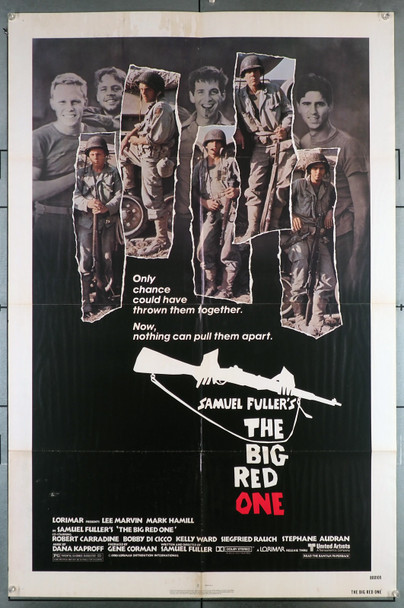 BIG RED ONE, THE (1980) 5659  Mark Hamill   Lee Marvin   Samuel Fuller Original United Artists One Sheet Poster (27x41).  Folded.  Theater-Used  Fair Condition