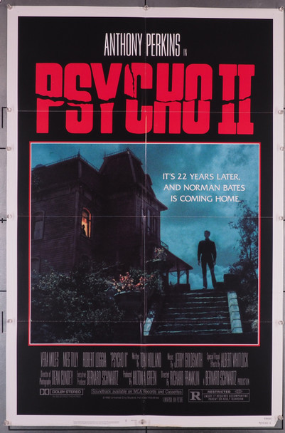 PSYCHO II (1983) 29282  Anthony Perkins Movie Poster Universal Pictures Original One-Sheet Poster (27x41) Folded  Very Fine Condition