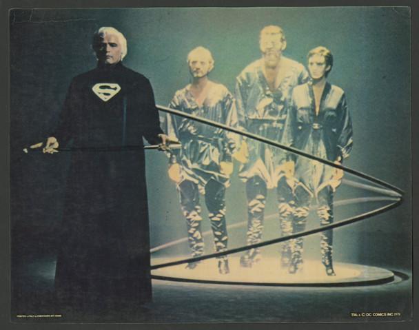 SUPERMAN     (1978) 9589  Movie Poster  Oversized Color Photo of Marlon Brando Original 11x14 Color Photo  Printed in Italy  Average Used Condition