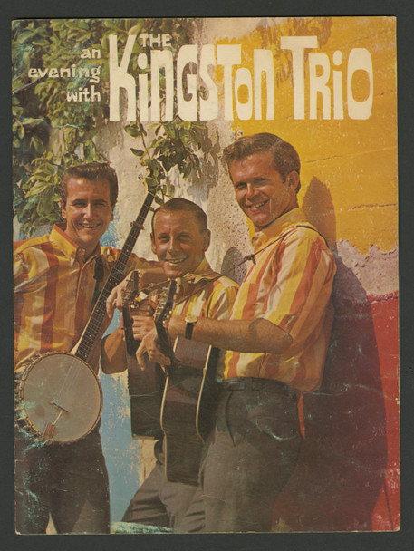 AN EVENING WITH THE KINGSTON TRIO (1962) 29482  Concert Program from 1962Bob Shane  Nick Reynolds  John Stewar Original Concert Program (9x12)  Multiple Pages  Very Good Plus to Fine Condition