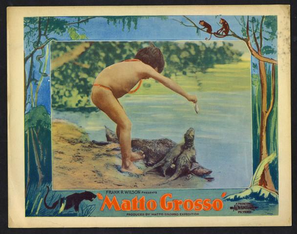 MATTO GROSSO (1933) 18869  Documentary Film Lobby Card  Floyd Crosby Original U.S. Scene Lobby Card (11x14)  Good Condition  Scarce Card