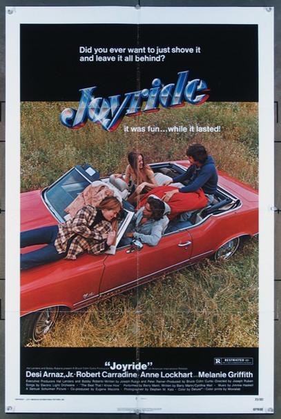 JOYRIDE (1977) 11761  Movie Poster  Robert Carrdine  Melanie Griffith  Desi Arnaz, Jr.  Anne Lockhart American International One-Sheet Poster   27x41  Folded  Very Fine Condition