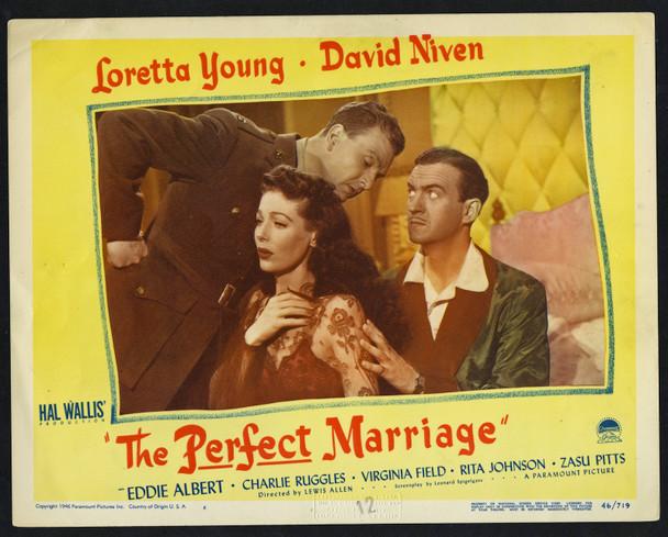 PERFECT MARRIAGE, THE (1946) 8113  Movie Poster  Lobby Card  Loretta Young  David Niven  Eddie Albert Original U.S. Scene Lobby Card (11x14) Very Fine Condition