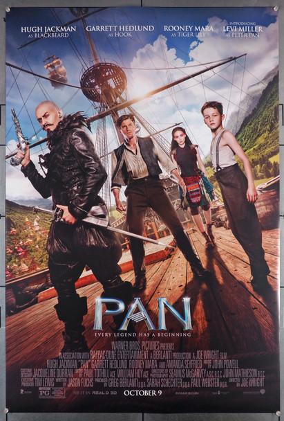 PAN (2015) 29468  Movie Poster  Hugh Jackman  Levi Miller  Amanda Seyfried  Rooney Mara Original U.S. One-Sheet Poster (2015) Rolled  Double-Sided  Fine Plus Condition