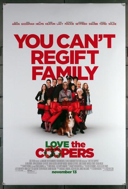 LOVE THE COOPERS (2015) 29513  Movie Poster  Diane Keaton  Steve Martin  John Goodman   Alan Arkin Original U.S. One-Sheet Poster (27x40)  Rolled  Double Sided  Fine Plus Condition