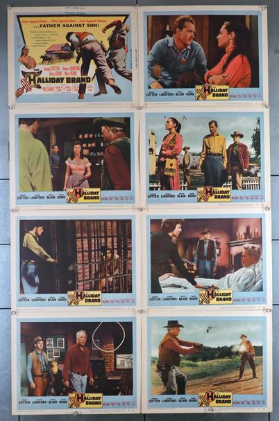 HALLIDAY BRAND, THE (1957) 18439  Lobby Card Set  Fine Plus Condition Original U.S. Lobby Card Set  Eight Individual Cards   Fine Plus Condition