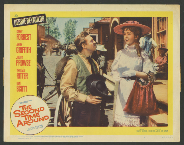 SECOND TIME AROUND, THE (1961) 29490  Debbie Reynolds   Andy Griffith Original U.S. Scene Lobby Card (11x14)  Fine Plus Condition