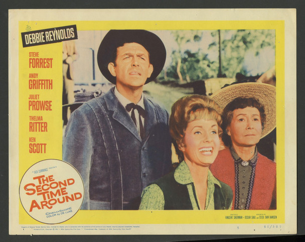 SECOND TIME AROUND, THE (1961) 29488  Debbie Reynolds  Andy Griffith  Thelma Ritter Original U.S. Scene Lobby Card (11x14) Fine Condition