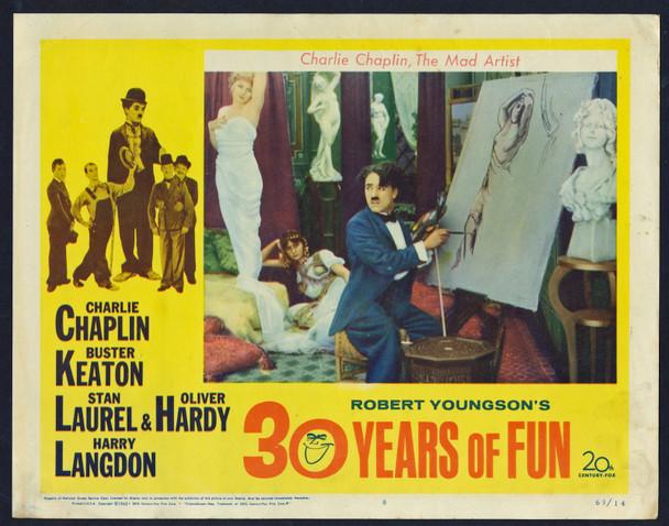 ROBERT YOUNGSON'S 30 YEARS OF FUN (1963) 29495  Charles Chaplin Original U.S. Scene Lobby Card (11x14)  Very Good Plus to Fine Condition