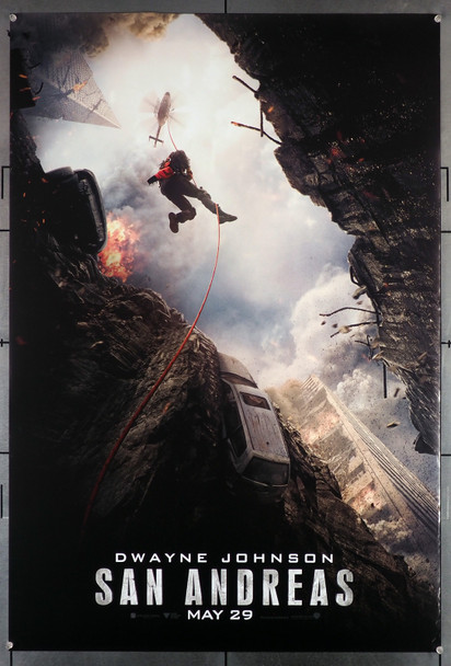 SAN ANDREAS (2015) 29515  Movie Poster  Advance Style  27x40  Double-Sided  Dwayne Johnson   Original U.S. One-Sheet Poster (27x40)  Double Sided  Rolled  Fine Plus Condition