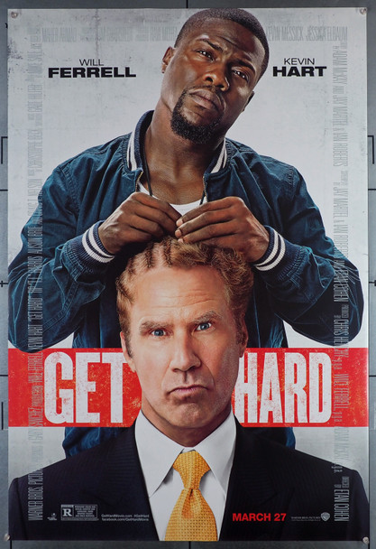 GET HARD (2015) 29478  Movie Poster   Will Ferrell  Kevin Hart Original HBO Max U.S. One-Sheet Poster (27x40)  Rolled  Fine Plus Condition