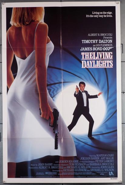 LIVING DAYLIGHTS, THE (1987) 1652   Timothy Dalton as James Bond Original U.S. One-Sheet Poster (27x41) Folded  Very Fine Condition