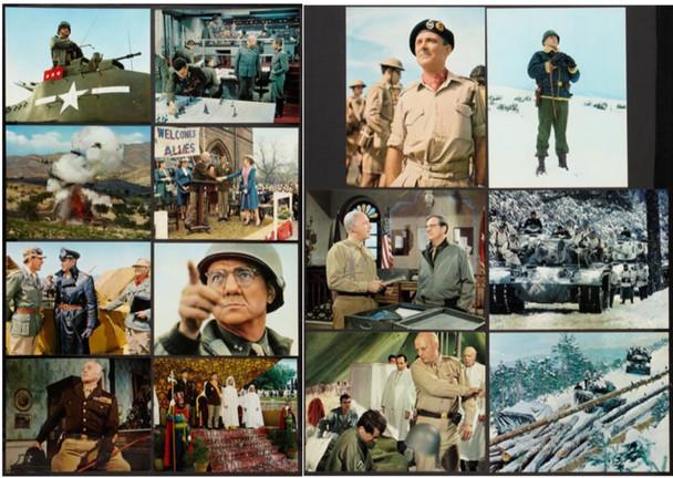 PATTON (1970) 4330  Movie Posters  11x14 Color De-Luxe Oversized Color Photos Original 11x14 Color Photo Set  14 Individual Photos  Very Fine Plus Condition