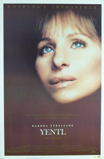 YENTL (1983) 8213  Movie Poster  Never Folded  Very Fine  Teaser One-Sheet  Barbara Streisand Original MGM One Sheet Poster (27x41). Unfolded. Near Mint Condition.