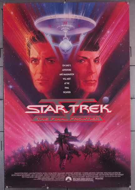 STAR TREK V: THE FINAL FRONTIER (1989) 29504  Movie Poster  Fair Condition Only  Economy Priced  Art by Bob Peak Original U.S. One-Sheet Poster (27x41) Rolled  Fair Condition Only  Please Read Description