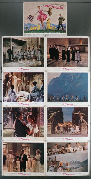 SOUND OF MUSIC, THE (1965) 19930  Original Roadshow Lobby Card Set  9 Cards Title Card with Howard Terpning Art Original U.S. Roadshow Lobby Card Set   Nine Individual 11x14 Color Lobby Cards  Fine to Fine Plus Condition