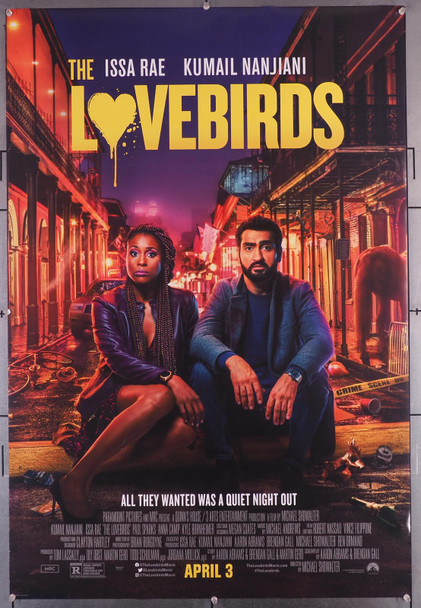 LOVEBIRDS, THE (2020) 29518  Movie Poster  (27x40)  Rolled  Fine Plus Condition Original U.S. One-Sheet Poster (27x40)  Rolled  Fine Plus