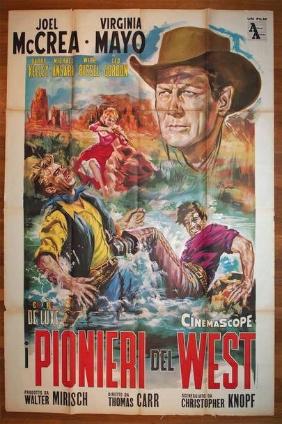 TALL STRANGER, THE (1957) 28936  Movie Poster  Italian 79x55  Joel McCrea   Thomas Carr Original Italian Four Foglio Poster (79x55)  Theater Used  Folded  Good Condition