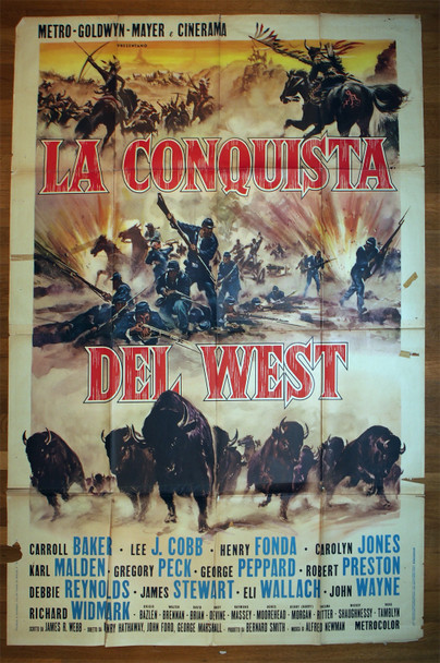 HOW THE WEST WAS WON  (1962) 28928  Italian 79x55 Poster   Art by Reynold Brown Original Italian 79x55 Poster  Folded  Average Used Condition