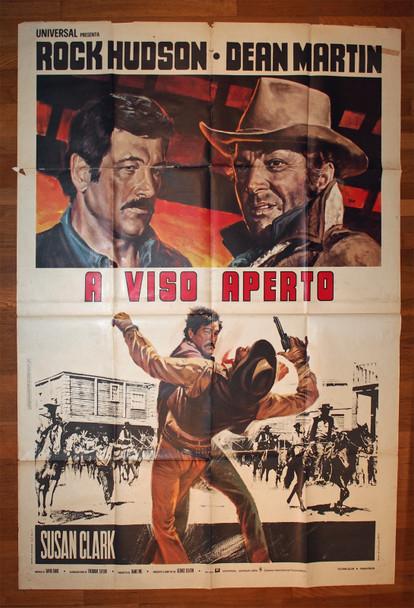 SHOWDOWN (1973) 28934  Italian Movie Poster  79x55  Theater Used  Average Condition  Dean Martin  Rock Hudson Original Italian 79x55 Movie Poster  Large Format Poster   Theater Used  Average Used Condition