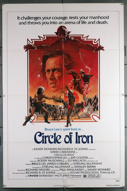 CIRCLE OF IRON (1978) 26819  Movie Poster  (27x41) Folded  David Carradine  Martial Arts  Original Avco Embassy One-Sheet Poster  (27x41) Folded  Very Fine Condition
