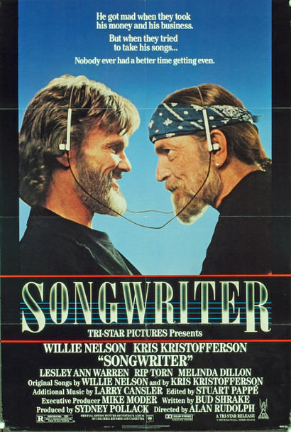 SONGWRITER (1984) 20354  Movie Poster  Kris Kristofferson   Willie Nelson   Bud Shrake   Alan Rudolph   Original U.S. One-Sheet Poster  (27x41)  Folded  Theater-Used  Fair Condition