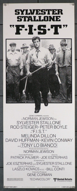 F.I.S.T. (1978) 12269  Movie Poster  (14x36)  Rolled  Sylvester Stallone  Peter Boyle  Norman Jewison Original U.S. Insert Card Poster (14x36)  Rolled  Very Fine Condition