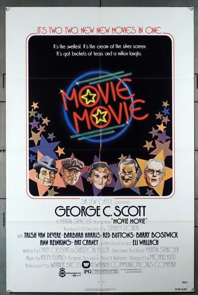 MOVIE MOVIE (1978) 10886  Movie Poster   Barry Bostwick  George C. Scott  Ann Reinking  Stanley Donen Warner Brothers Original U.S. One-Sheet Poster (27x41) Folded  Very Fine Plus Condition
