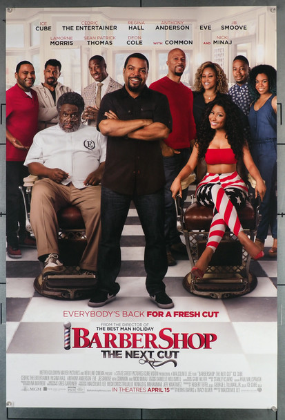 BARBERSHOP: THE NEXT CUT (2018) 29582  Movie Poster  Cedric The Entertainer   Ice Cube  Regina Hall  J.B. Smoove Original U.S. One-Sheet Poster (27x40)  Rolled  Very Fine Condition
