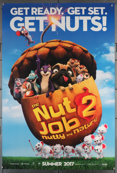 NUT JOB 2, THE: NUTTY BY NATURE (2017) 29584  Movie Poster  (27x41)  Animated Film  Cal Brunker Director Original U.S. One-Sheet Poster (27x40)  Rolled  Never Folded  Very Fine Condition