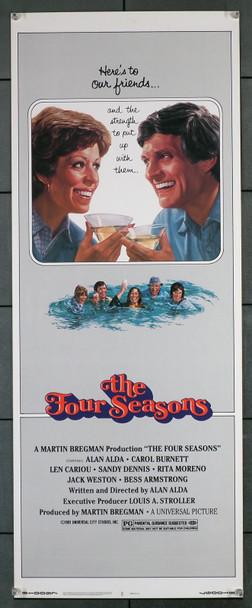 FOUR SEASONS, THE (1981) 12267  Movie Poster (14x36)  Carol Burnett  Alan Alda   Art by Victor Gadino Original U.S. Insert Card Poster 914x36)  Rolled Never Folded  Very Fine Condition