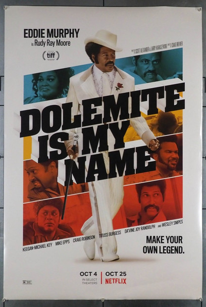 DOLEMITE IS MY NAME (2019) 28803   NOT A DVD!!  Movie Poster  Original  Eddie Murphy Original U.S. Teaser or Advance One-Sheet (27x40) Rolled  Fine to Fine Plus  Double-Sided