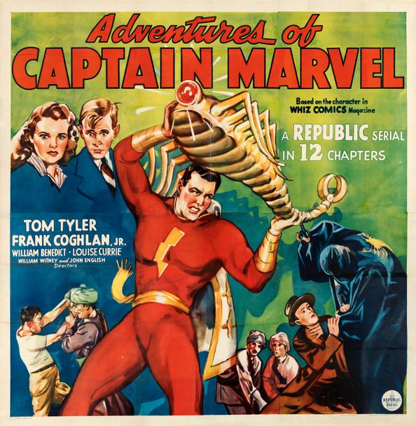 ADVENTURES OF CAPTAIN MARVEL, THE (1941) 29449  Rare Original Republic Studios Six Sheet Poster Original U.S. Six-Sheet Poster (81x81)  Linen Backed  Very Fine Condition