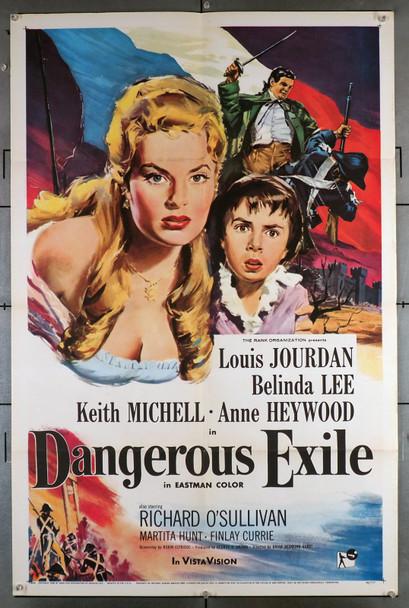 DANGEROUS EXILE (1958) 8609  Movie Poster (27x41)  Belinda Lee  Louis Jourdan  Keith Michell Original U.S. One-Sheet Poster (27x41)  Folded  Very Fine Condition