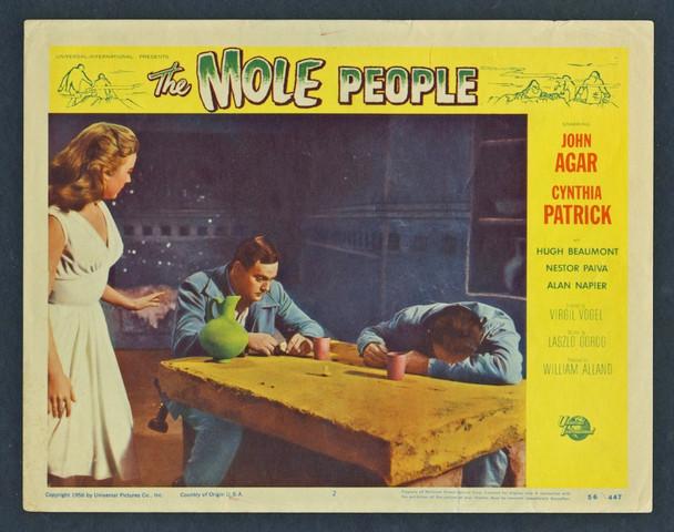 MOLE PEOPLE, THE (1956) 4409 Original Scene Lobby Card (11x14)  Card No. 2  Fine Plus Condition