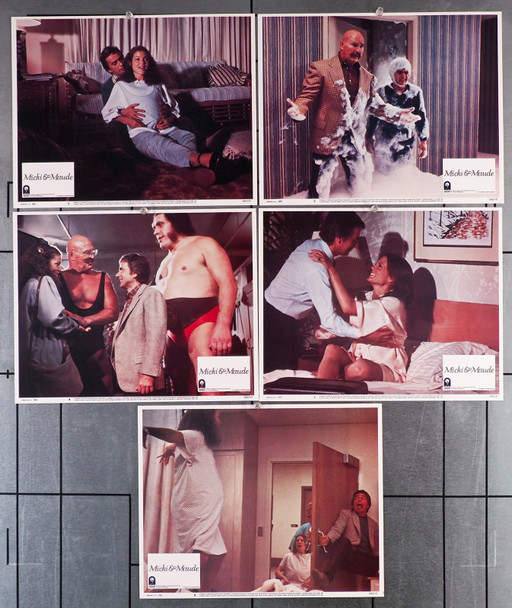 MICKI AND MAUDE (1984) 29529  Five Lobby Cards (11x14)  Dudley Moore  Ann Reinking  Amy Irving  Richard Kiel Original Lobby Cards  Six 11x14 Cards in Very Fine Condition