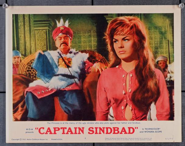 CAPTAIN SINDBAD (1963) 29528  Scene Lobby Card (11x14)  Heidi Bruhl  Pedro Armendariz  Very Fine Original U.S. Scene Lobby Card (11x14)  Very Fine Condition