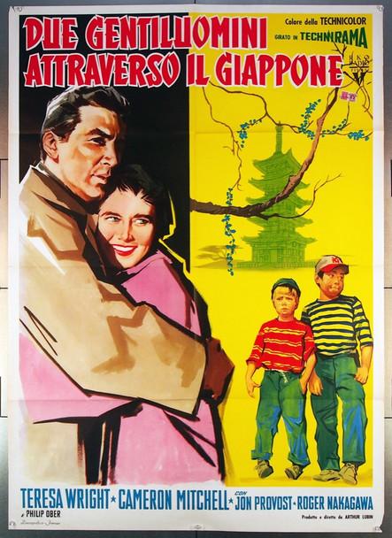 ESCAPADE IN JAPAN (1957) 26782 Italian Movie Poster (39x55)  Teresa Wright  Cameron Mitchell  Jon Provost  Roger Nakagawa  RKO Pictures Original Italian 39x55  Folded  Very Fine Condition
