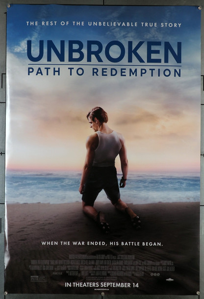 UNBROKEN (2014) 29408   Jack O'Connell   Domhnall Gleeson  Movie Poster  Angelina Jolie Original U.S. One-Sheet Poster (27x40)  Rolled  Fine Plus Condition