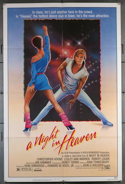 NIGHT IN HEAVEN, A (1983) 2854  Movie Poster   27x41  Very Fine Condition   Christopher Atkins   Leslie Ann Warren   John G. Avildsen Original U.S. One-Sheet Poster (27x41)  Folded  Very Fine Condition