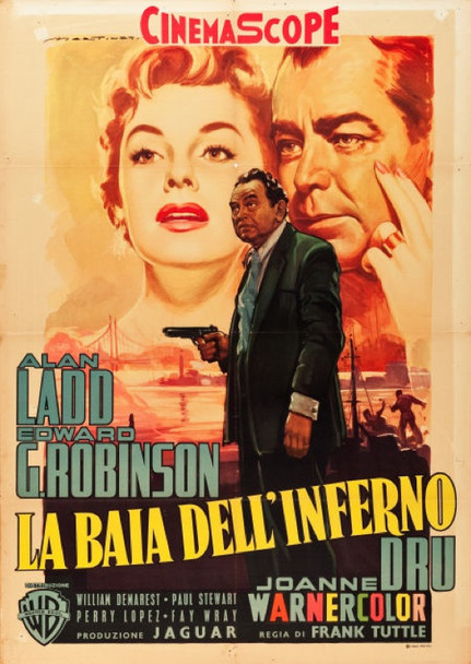 HELL ON FRISCO BAY (1956) 24015  Italian Movie Poster (39x55)  Alan Ladd  Joanne Dru   Art by Luigi Martinati Warner Brothers Italian 39x55    Very Fine Condition  Folded    Art by Luigi Martinati