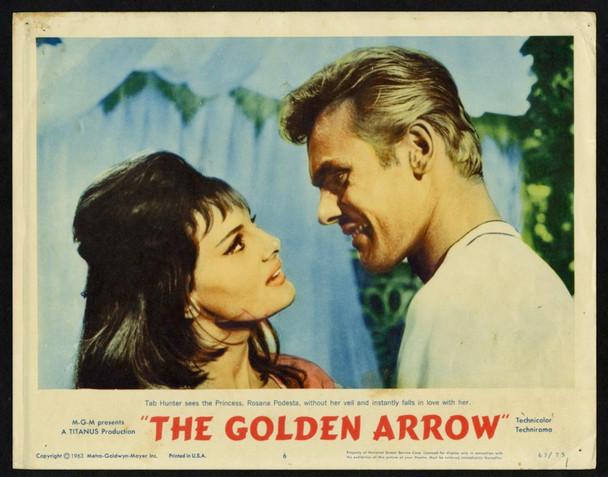 GOLDEN ARROW, THE (1963) 4421  Tab Hunter   Rossana Podesta   Antonio Margheriti MGM Original U.S.Scene Lobby Card (11x14) Very Fine