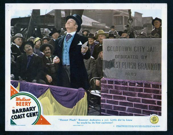 BARBARY COAST GENT (1944) 2592  Wallce Beery Lobby Card  Theater Used MGM Original Scene Lobby Card No. 8  (11x14) Average Used Condition