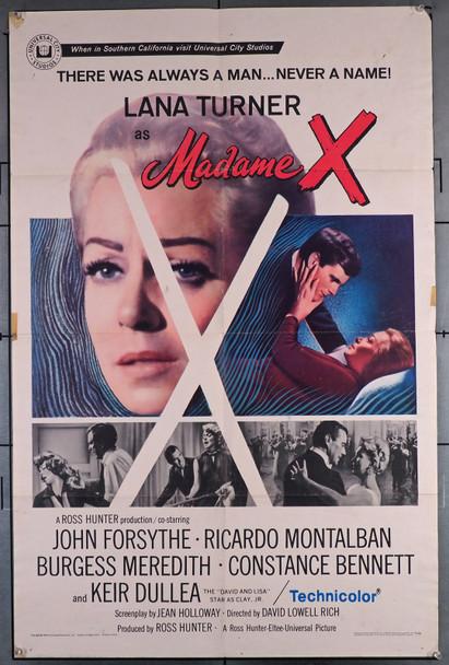 MADAME X (1966) 11386  Movie Poster   Lana Turner  Ricardo Montalban Original U.S. One-Sheet Poster (27x41)  Folded  Good Condition  Theater Used