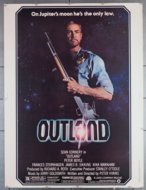 OUTLAND (1981) 7337  Movie Poster  30x40  U.S.Rolled Poster   Sean Connery   Peter Hyams Original U.S. 30x40 Poster   Rolled  Fine Plus to Very Fine  Theater-Used