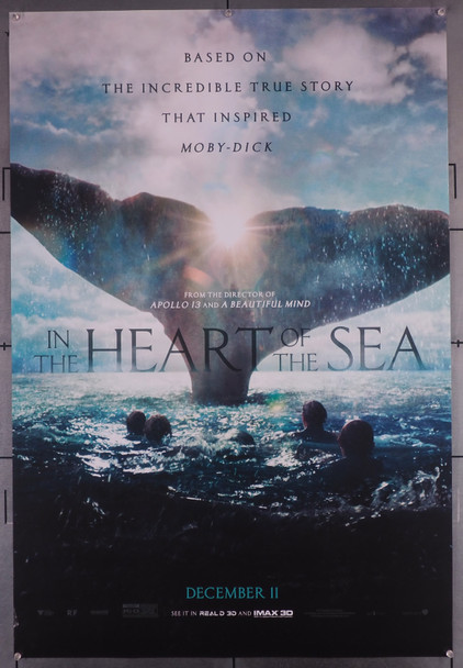 IN THE HEART OF THE SEA (2015) 29583  Movie Poster  Brendan Gleeson  Paul Anderson  Cillian Murphy  Ron Howard Original U.S. One-Sheet Poster (27x40) Double Sided  Rolled  Fine Plus Condition