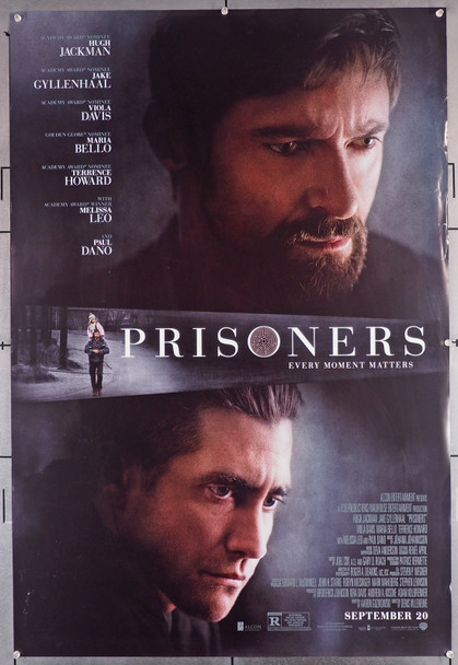 PRISONERS (2013) 29586  Movie Poster (27x40)  Double Sided  Very Good Plus Condition  Hugh Jackman   Jake Gyllenhaal Original U.S. One-Sheet Poster (27x40)  Rolled  Double-Sided  Very Good Plus Condition