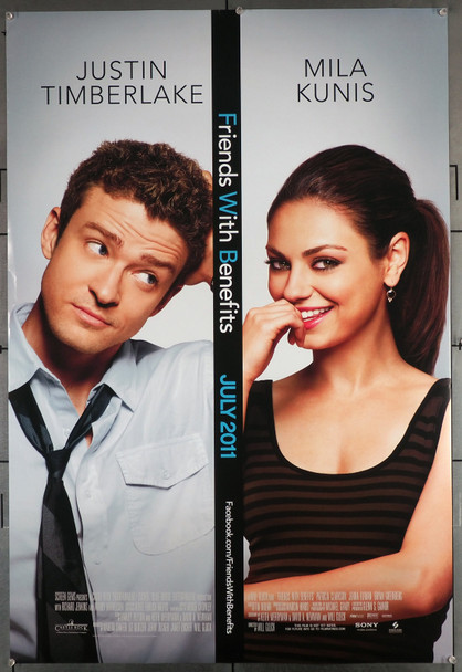 FRIENDS WITH BENEFITS (2011) 29624  Movie Poster  27x40  Very Fine Condtion  Rolled  Justin Timberlake  Mila Kunis Original U.S. One-Sheet Poster (27x40)  Rolled  Very Fine