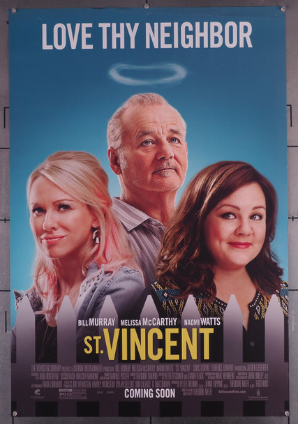 ST. VINCENT (2014) 29626  Movie Poster  (27x40)  Bill Murray   Melissa McCarthy   Naomi Watts Original U.S. One-Sheet Poster (27x40)  Rolled  Very Good Plus Condition