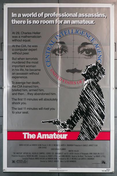 AMATEUR, THE (1981) 29544  Movie Poster (27x41)  Christopher Plummer  John Savage  Marthe Keller   Charles Jarrott Original One-Sheet Poster (27x41)  Folded  Very Fine Condition
